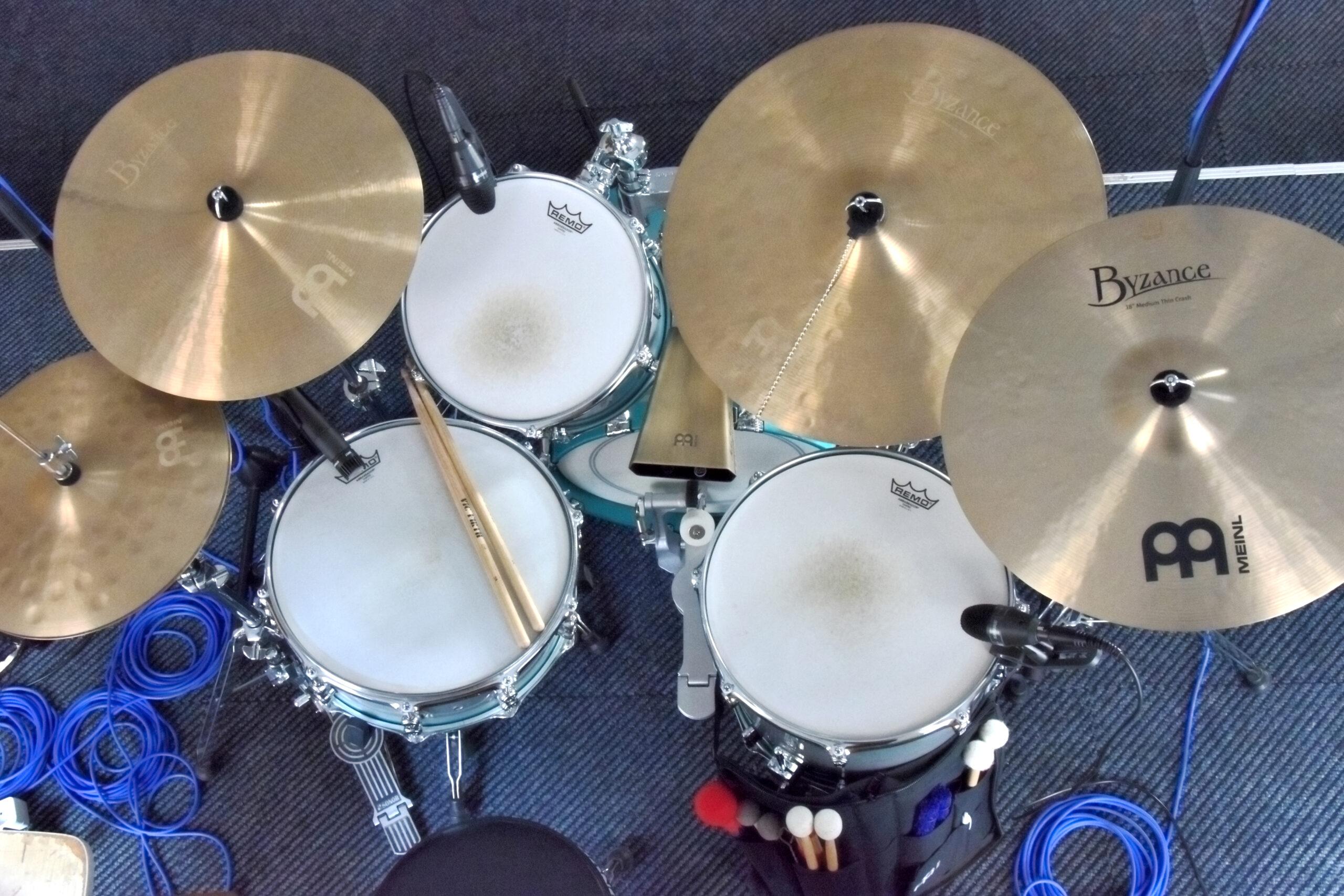 Mein Schlagzeug aus der Vogelperspektive