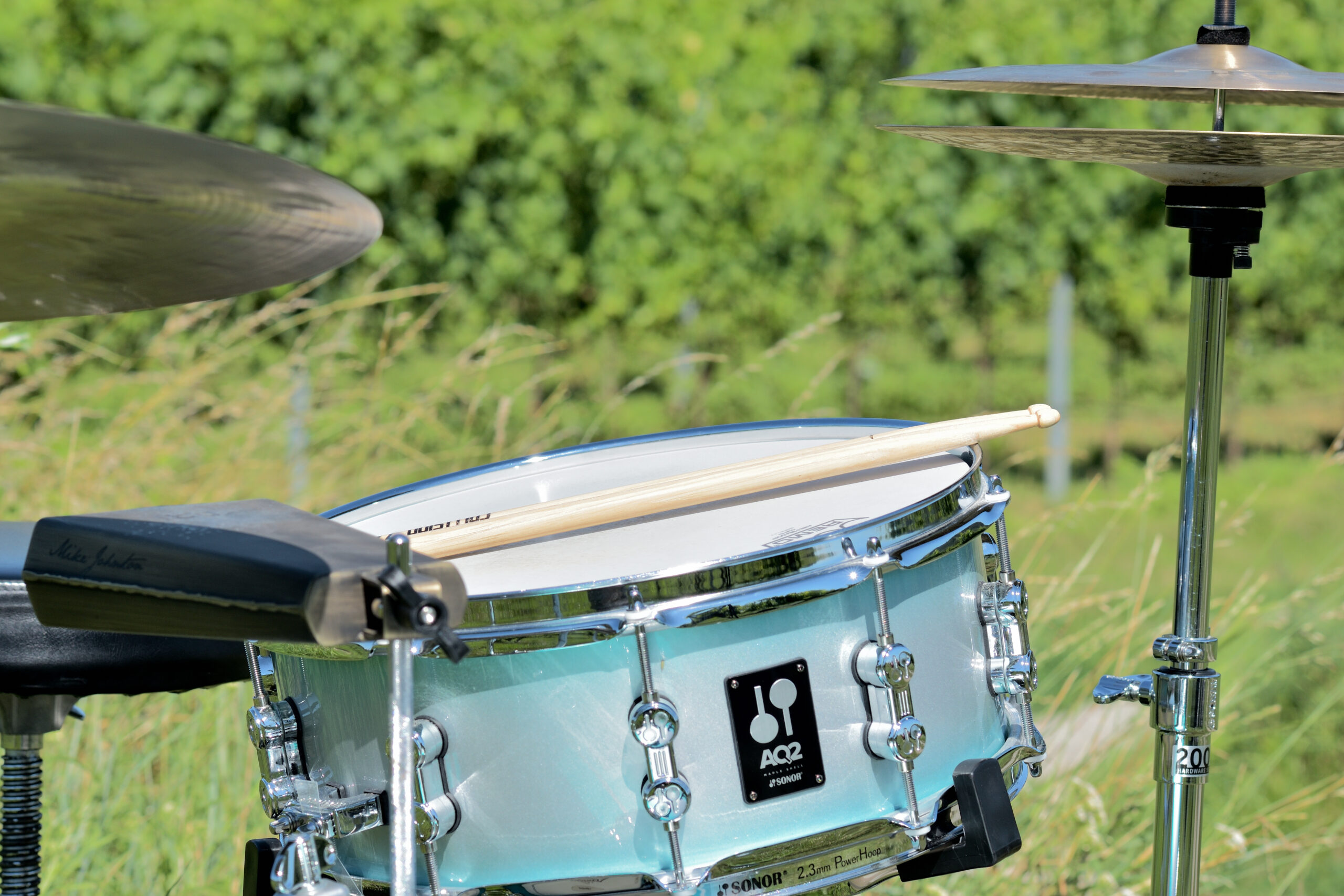 Schlagzeug Foto im Weingarten
