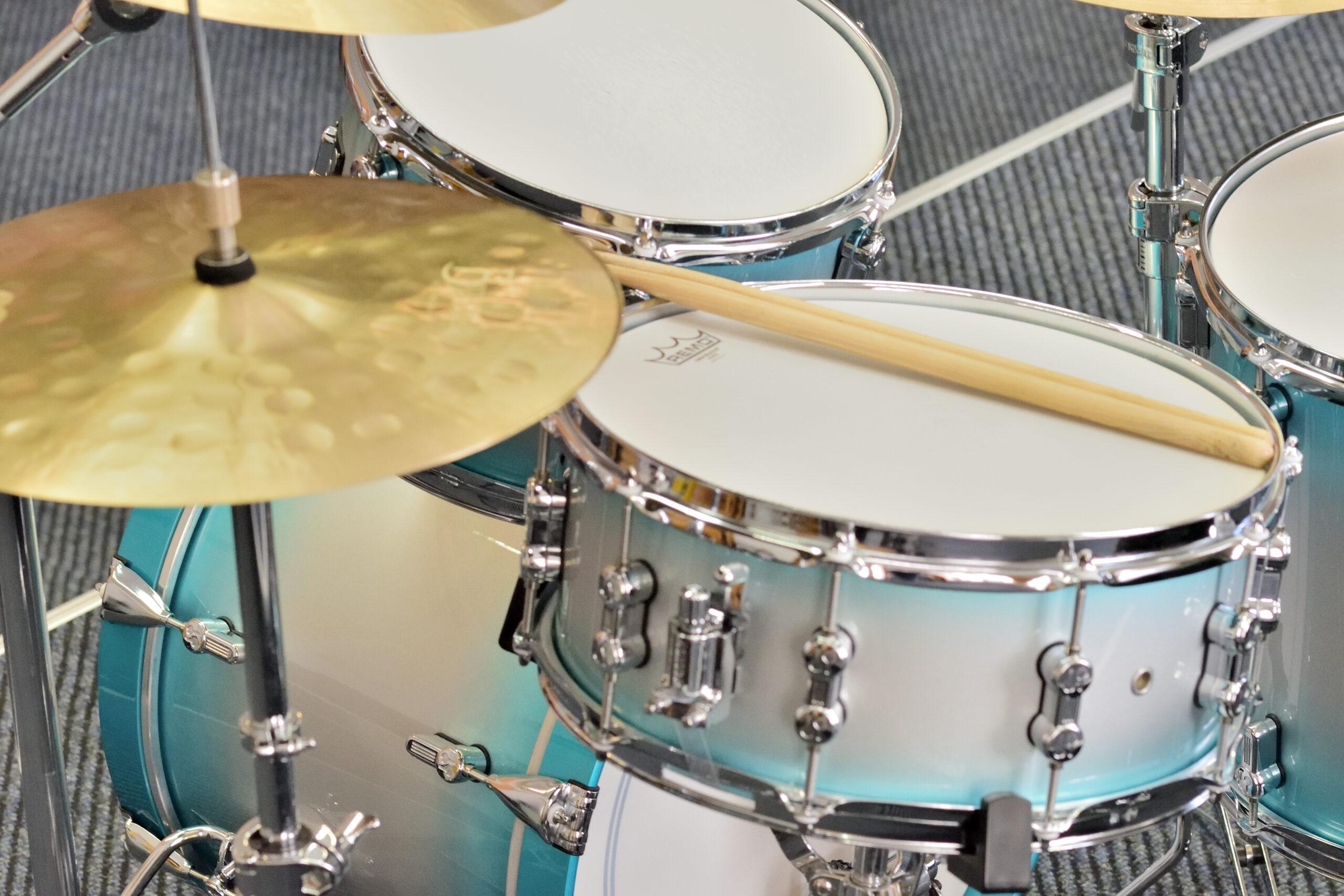 Nahaufnahme des Schlagzeugs